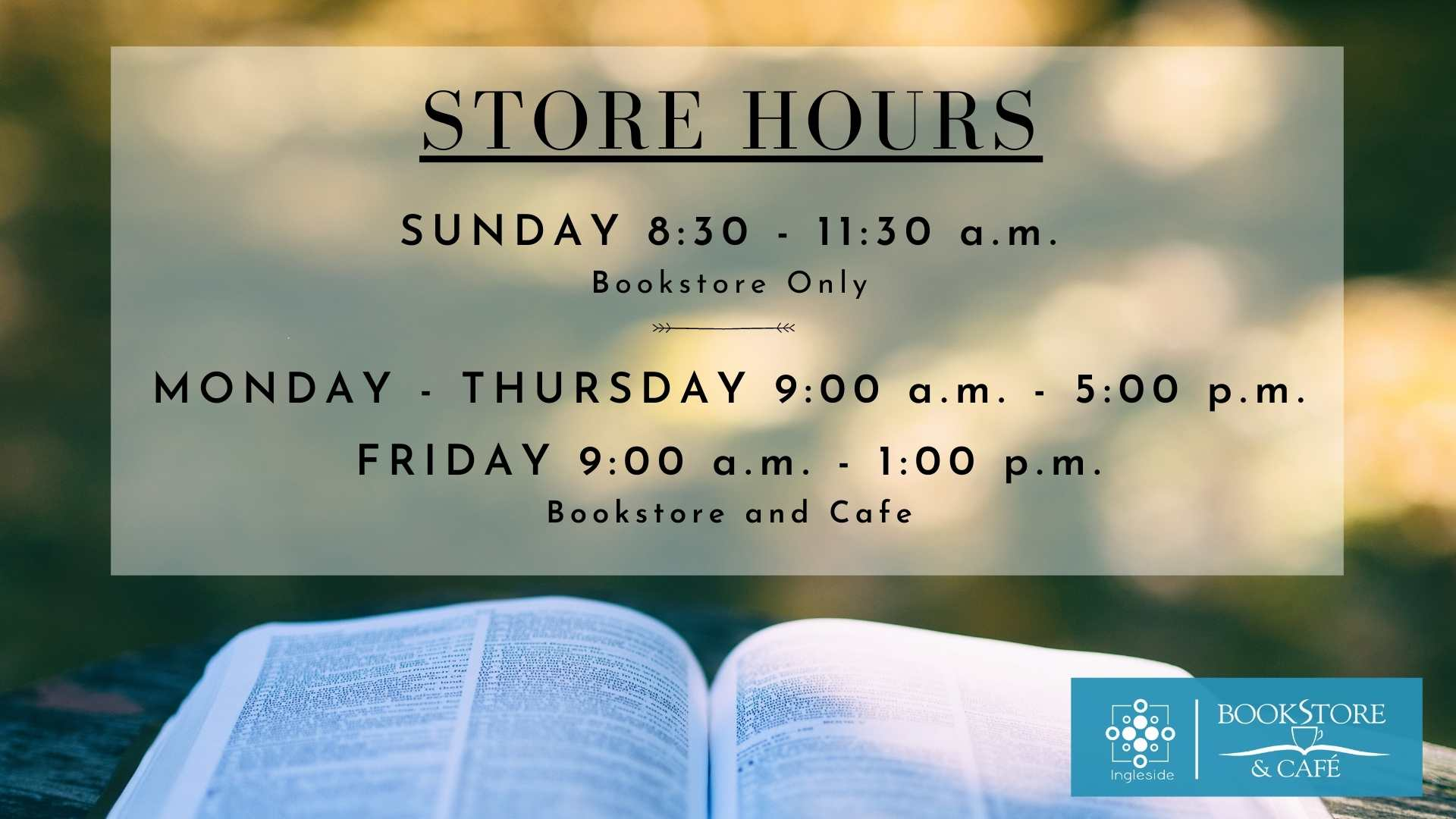 Current Store Hours